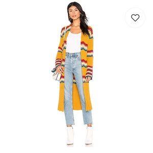 FREE PEOPLE Winding Road Cardigan sweater L fest